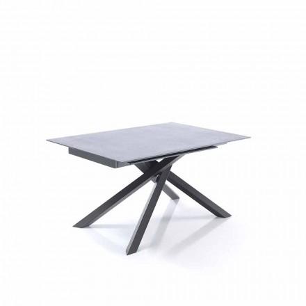 Tavolo Allungabile da Pranzo in Vetro e Metallo - Tristano