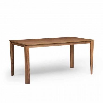 Tavolo allungabile di design con base in legno di frassino, Medicina