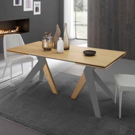 Tavolo Allungabile di Design con Piana in Rovere Fatto in Italia - Daryl