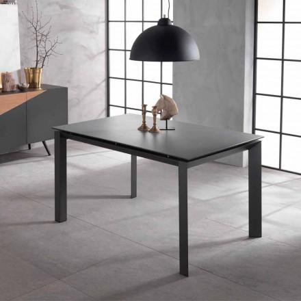 Tavolo allungabile di design con piano in ceramica e mdf, Nosate
