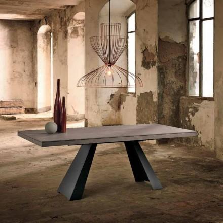 Tavolo allungabile di design in legno rovere fatto in Italia Zerba