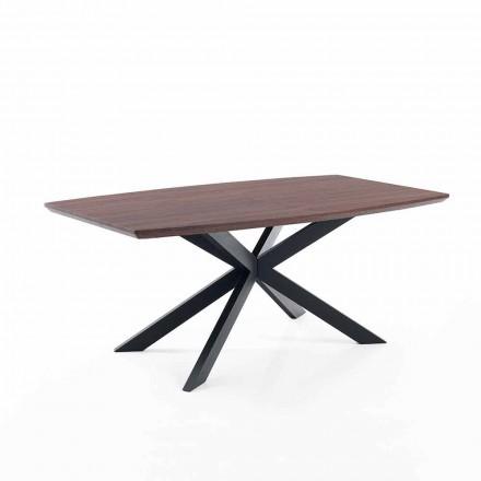 Tavolo Allungabile di Design in Mdf e Metallo - Torquato