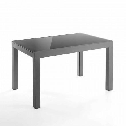 Tavolo Allungabile di Design in Vetro e Metallo - Guerriero