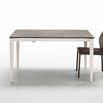 Tavolo allungabile fino a 210cm con piano in vetroceramica design Five