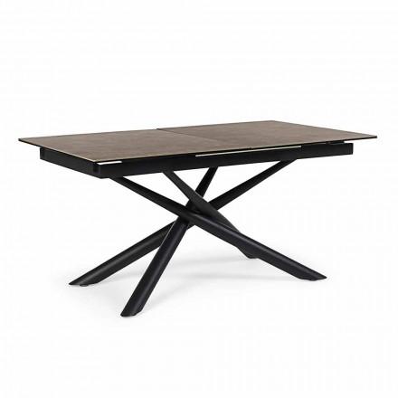 Tavolo Allungabile Fino a 220 cm in Ceramica e Acciaio Homemotion - Brianza