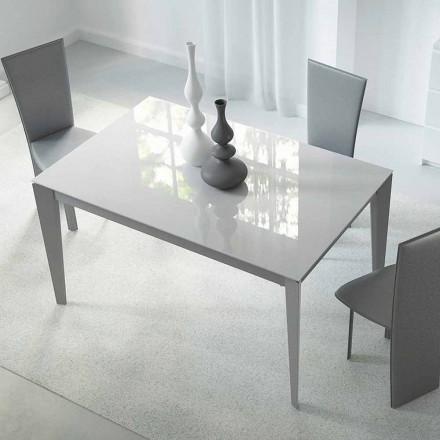 Tavolo Allungabile Fino a 220 cm in Vetro e Acciaio Made in Italy - Numana