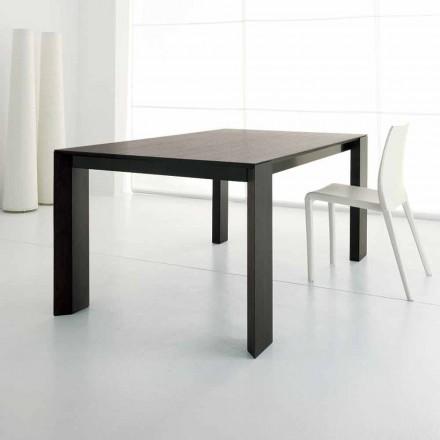 Tavolo Allungabile Fino a 245 cm in Legno Rovere Wengè di Design - Ipanemo