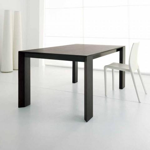 Tavolo Allungabile In Legno Rovere Wenge Di Design Moderno