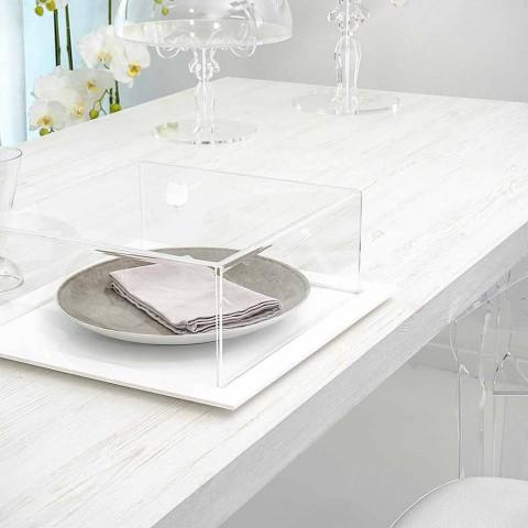 Tavolo Allungabile In Plexiglass E Legno Di Design Moderno