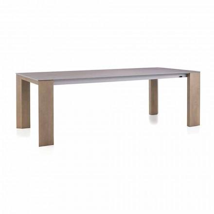 Tavolo Allungabile Fino a 300 cm in Ceramica e Gambe in Legno - Ipanemo