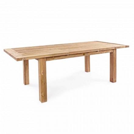 Tavolo da Giardino Allungabile Fino 250 cm in Legno di Teak Homemotion - Hunter
