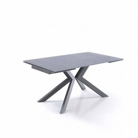 Tavolo Allungabile in Vetro e Metallo di Design - Piersilvio