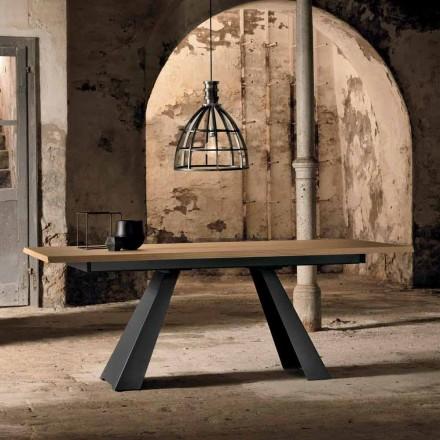 Tavolo Allungabile Lateralmente in Rovere Made in Italy -  Zerba