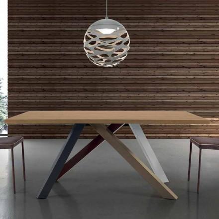 Tavolo Allungabile Moderno con Piano in Legno Laminato Made in Italy – Settimmio