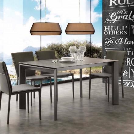Tavolo allungabile moderno con piano in vetro ceramica Filadelfia