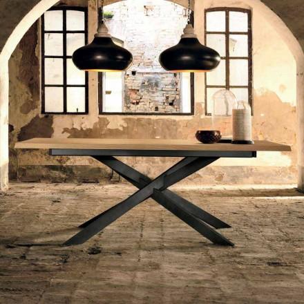 Tavolo Allungabile Moderno in Legno Rovere Made in Italy - Oncino
