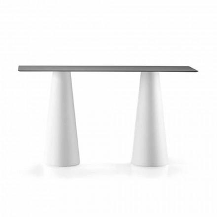 Tavolo Alto da Esterno con Piano Rettangolare in Hpl Made in Italy - Forlina