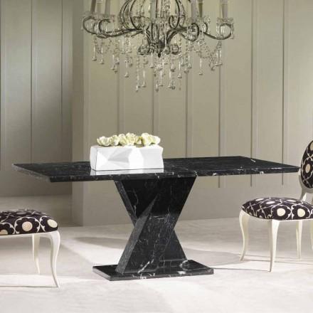 Tavolo classico fisso in marmo con basamento incrociatoByron