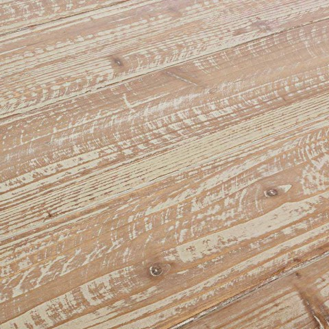Tavolo Industrial Con Piano In Legno Di Abete E Base In Acciaio