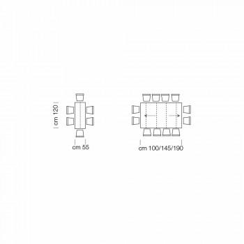 Tavolo Consolle Allungabile fino a 325cm in Laminato Made in Italy – Gordito