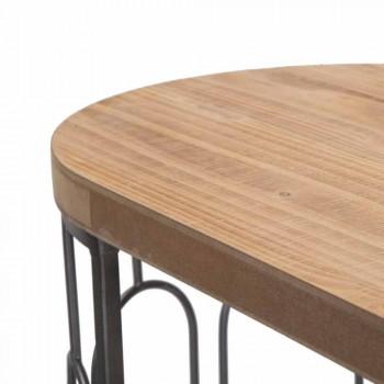Tavolo Consolle Salotto Stile Moderno in Ferro e MDF - Trisha