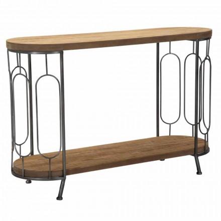 Tavolo Consolle da Salotto Stile Moderno in Ferro e MDF - Trisha