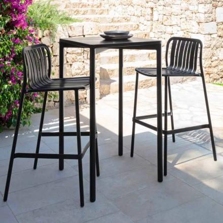 Tavolo da bar per esterno Trocadero Talenti, 60x60 cm, in alluminio