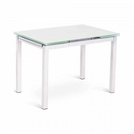 Tavolo Allungabile fino a 200 cm di Design Moderno in Vetro e Metallo – Bollino