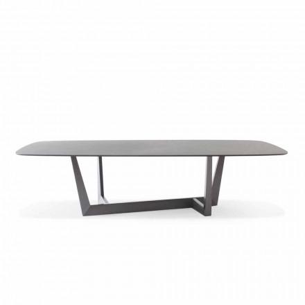 Tavolo da Pranzo Made in Italy in Ceramica e Metallo Piombo - Bonaldo Art