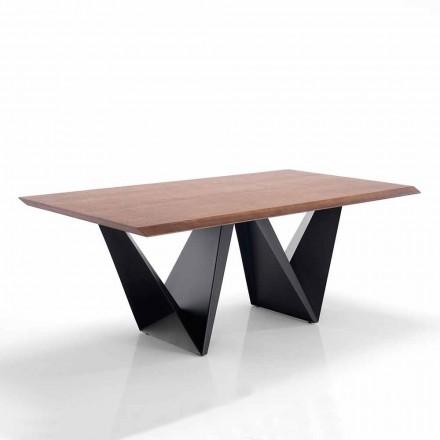 Tavolo da Cucina in Mdf e Metallo di Design Moderno - Helene