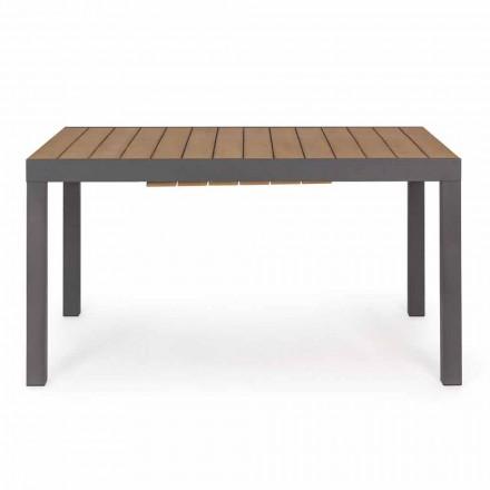 Tavolo da Esterno Allungabile Fino a 200 cm con Piano in Finitura Teak - Bobel