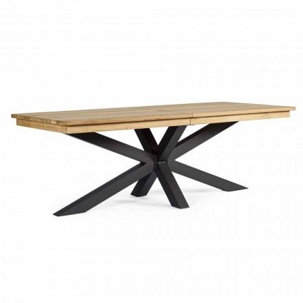 Tavolo da Esterno Allungabile Fino a 300 cm in Teak, Homemotion - Selenia
