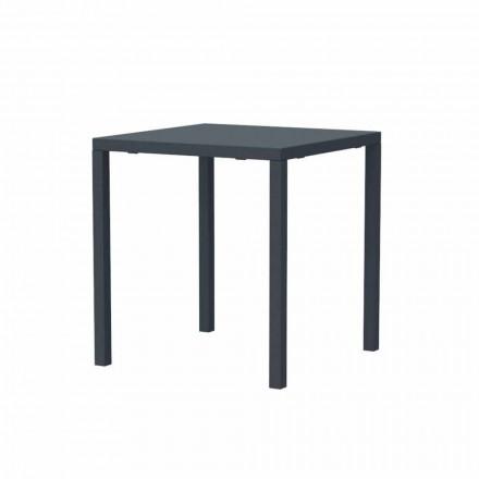Tavolo da Esterno Impilabile Quadrato in Metallo Moderno Made in Italy - Aila