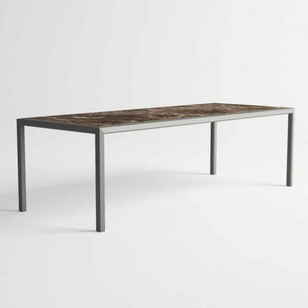 Tavolo da Esterno in Alluminio di Design Moderno per Giardino - Mississippi2