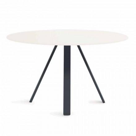 Tavolo da Esterno in Metallo e HPL Rotondo Made in Italy - Conrad