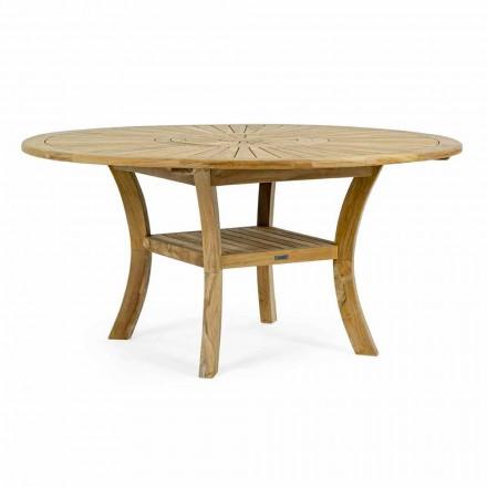 Tavolo da Esterno in Teak con Piano Centrale Girevole, Homemotion - Dimitris