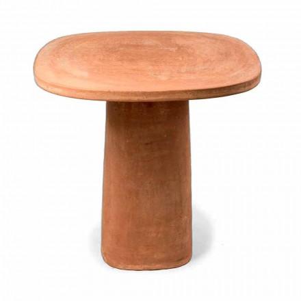 Tavolo da Esterno in Terracotta Quadrato 70x70 cm Made in Italy - Yulia