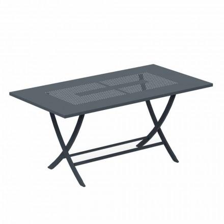 Tavolo da Esterno Pieghevole in Metallo Verniciato Moderno Made in Italy - Doria