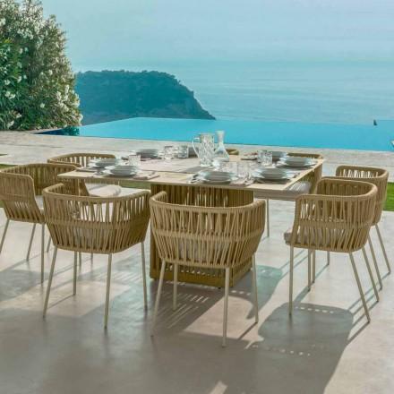 Tavolo da esterno quadrato 150cm in alluminio Cliff Talenti by Palomba