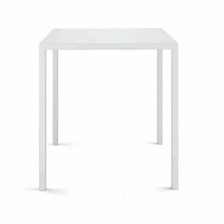 Tavolo da Esterno Quadrato in Lamiera Made in Italy - Benedict