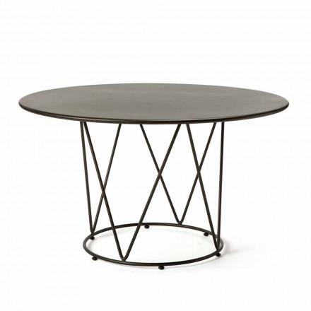 Tavolo da Esterno Rotondo Moderno in Metallo Verniciato Made in Italy - Ibra
