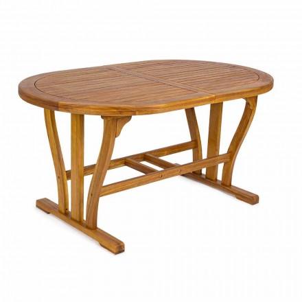 Tavolo da Giardino di Design Allungabile Fino 200 cm Ovale in Legno - Roxen