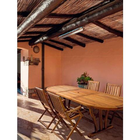 Tavolo Allungabile Legno Esterno.Tavolo Da Giardino Allungabile 200 Cm In Legno Design Ovale
