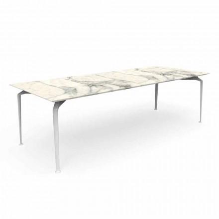 Tavolo da Giardino Rettangolare Moderno in Gres e Alluminio – Cruise Alu Talenti