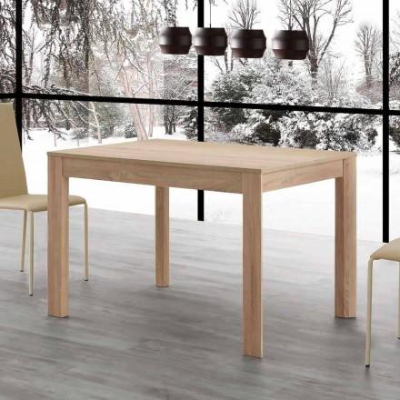 Tavolo da pranzo allungabile 130x80 aperto 190 cm Fiumicino, di design
