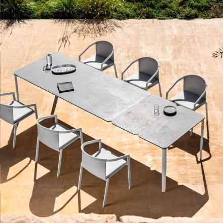 Tavolo da Pranzo Allungabile 318 cm da Esterno in Alluminio e Gres - Filomena