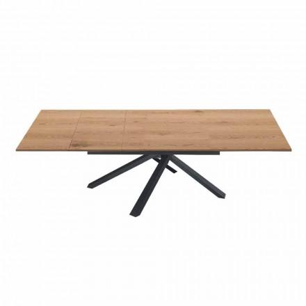 Tavolo da Pranzo Allungabile a 260 cm in Legno di Design Moderno - Gabicce