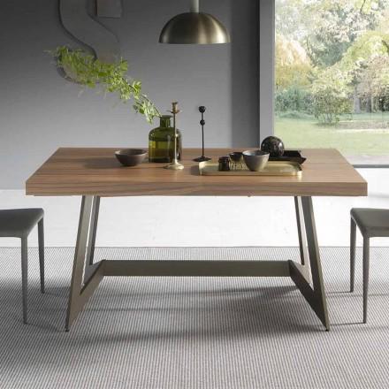 Tavolo da Pranzo Allungabile Fino a 160 cm in Legno Made in Italy - Eugenia