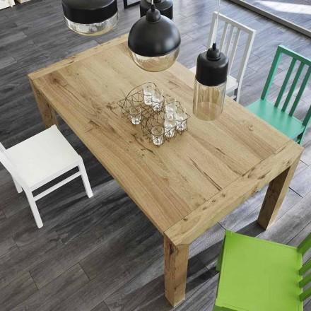 Tavolo da pranzo allungabile fino a 240 cm impiallacciato rovere Ciro