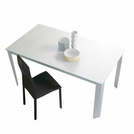 Tavolo da Pranzo Allungabile Fino a 250 cm in Vetro Opaco Made in Italy - Namiba